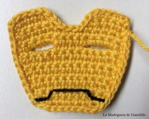 boca bordada máscara